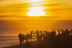 Channel Islands zmierzch w Południowym Kalifornia Zdjęcia Stock