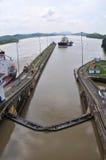 channel låset panama Royaltyfri Fotografi