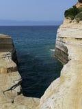Channel of love in Sidari , Corfu , Greece Stock Photography
