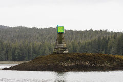 Channel Marker in Alaska Royalty Free Stock Photo