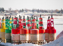 Channel marker bouys Stock Images
