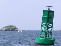 Channel Marker Buoy. Harbor navigation aid Royalty Free Stock Photo