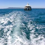 Channel marker on Port Phillip Bay royalty free stock photography