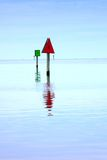 Channel Markers Hatteras Inlet North Carolina Royalty Free Stock Image