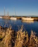 The channel of midi at the tip of the Onglous - Marseillan - France. The channel of midi at the tip of the Onglous - Marseillan - Herault - France stock image