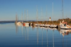 The channel of midi at the tip of the Onglous - Marseillan - France. The channel of midi at the tip of the Onglous - Marseillan - Herault - France stock photos