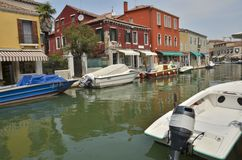Channel in Murano island Stock Images