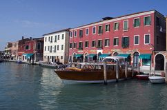 Channel in Murano Island in Venice Royalty Free Stock Photo
