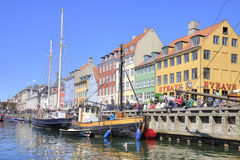 Channel Nyhavn are in city Copenhagen Royalty Free Stock Image