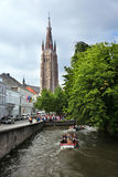 The channel in old town with boats Royalty Free Stock Photography