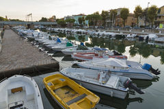 Channel port in Rimini, Italy Stock Photography