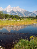 Snake River and Teton Range Stock Photo