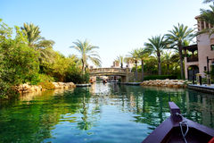 The channel in Souk Madinat Jumeirah Stock Photography