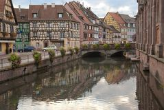 A channel in Strasbourg Royalty Free Stock Photography