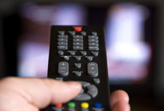 Channel surfing royalty free stock image
