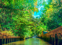 The channel in Thailand Royalty Free Stock Photos