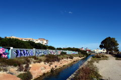Channel in Torrevieja Stock Image