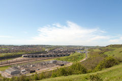 Channel Tunnel terminal at Folkestone, UK Royalty Free Stock Image