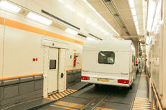 Channel Tunnel train carriage Royalty Free Stock Image