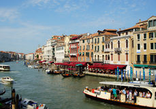 Channel in Venice, Italy. Grande canal - main channel in Venice, Italy Stock Images