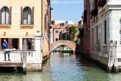 Channel in Venice royalty free stock images
