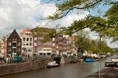 Channel view in Amsterdam Stock Photos
