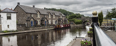 Channel in Wales. The channels of Brecon, Wales stock photos