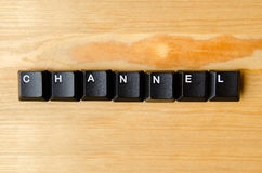 Channel word Stock Photos