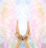 Channeling Angelic Healing Energy royalty-vrije stock afbeelding