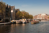 Channels in Amsterdam. Typical Amsterdam architecture Royalty Free Stock Image