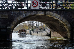 Channels and bridges of Amsterdam Royalty Free Stock Images