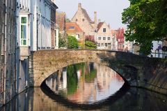 Channels of Bruges Royalty Free Stock Photo