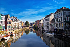 Channels of Brugge. Stock Photo