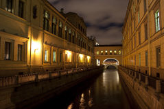Channels of evening St. Petersburg Royalty Free Stock Photography