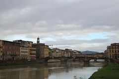 Channels of Florence royalty free stock photos