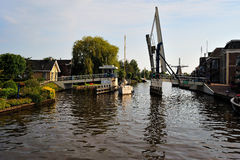 Channels in Friesland. Maybe your next trip will be on a boat on the wonderful channels, which you can find everywhere in the netherlands. Enjoy small cozy towns royalty free stock photos