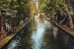 Channels of the old town. A characteristic feature of the city - Bunk channels connected by numerous bridges with adjacent houses stock photography