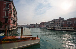Channels and streets of Venice. Gondolas on the canals of Venice Royalty Free Stock Photography