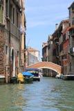 channels venetian Arkivfoton