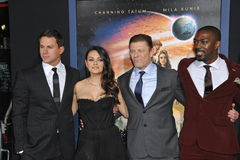 Channing Tatum & Mila Kunis & Sean Bean & David Ajala Stock Photos