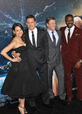 Channing Tatum & Mila Kunis & Sean Bean & David Ajala Royalty Free Stock Photos