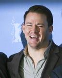 Channing Tatum s'occupe de la grêle de `, César ! ` Photographie stock libre de droits