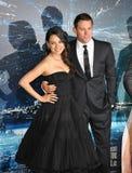 Channing Tatum u. Mila Kunis lizenzfreies stockfoto