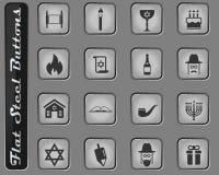 Chanoeka eenvoudig pictogrammen royalty-vrije stock foto