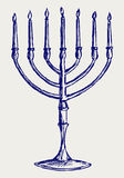 Chanoeka menorah stock illustratie