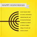 Chanoeka menorah op geel. gelukkige hanukkah Royalty-vrije Stock Foto