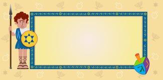 Chanoekabanner vector illustratie