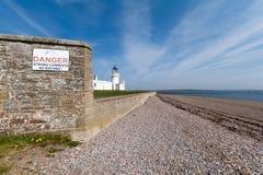 Chanonry punktu latarnia morska w Chanonry Ness, Szkocja obraz stock