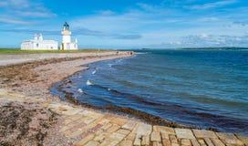 Chanonry punktu latarnia morska w Szkocja obraz royalty free