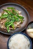 chanpurÅ japonês de SÅmen da culinária ? Fotos de Stock Royalty Free